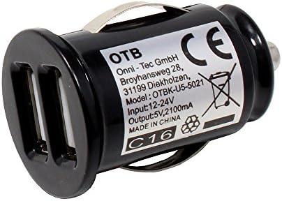 Autoadapter met 2 USBaansluitingen tbv Doogee N20 2100mA snel opladen