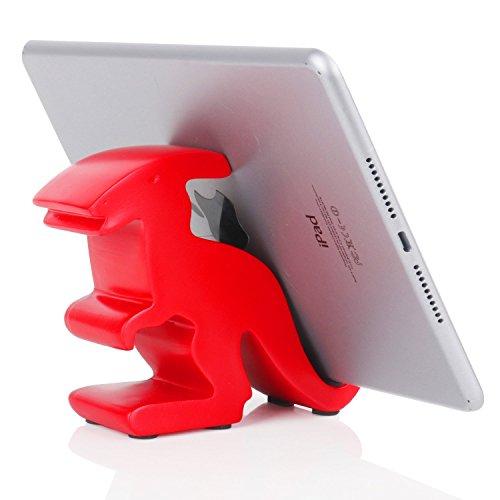 - Plinrise Resin Art Cute Tyrannosaurus Dinosaur Desktop Cell Phone Stand Mounts,Decorative Candy Color Animal Dino Creative Smart Phone-Parasaurolophus Red