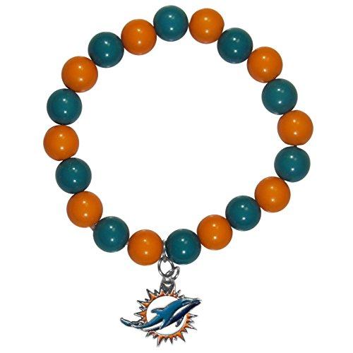 Nfl Miami Dolphins Charm (NFL Miami Dolphins Fan Bead Bracelet)