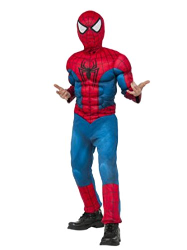 Marvel Comics Big Boys Spider-Man Muscle Chest Costume with Mask L -