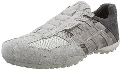 Geox Men's Snake 126 Sneaker, Light Grey, 44 M EU (11 US)