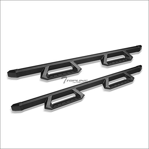 Topline Autopart Matte Black Aluminum Hoop Drop Step Side Nerf Bars Rail Running Boards For 09-18 Dodge Ram 1500/2019 Ram 1500 Classic Quad (Extended) Cab