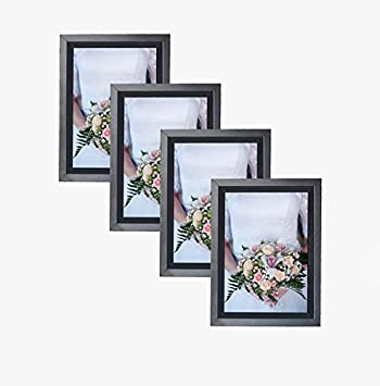 Amazoncom Mdf Wood Black Contemporary Picture Frame 5x7 Photo