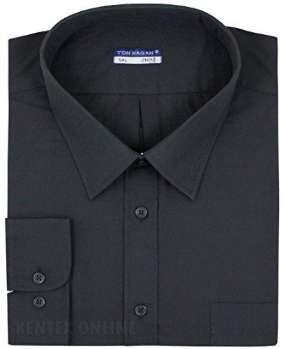 Tom Hagan Men's Formal Shirts Long Sleeve Plain 3Xl (19-19.5) 55 (Toms Wear Button Up Shirt)