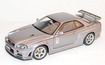 AUTOart Nissan Skyline GT-R S-Tune R34 S1 Grau Coupe 1998-2002 77358 1//18 Modell Auto mit individiuellem Wunschkennzeichen