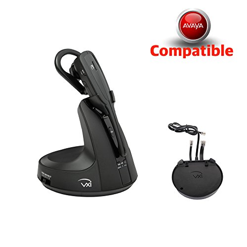 Avaya Phone Compatible VXI V200 Wireless Headset Bundle | Includes Avaya Remote Answerer (EHS) Adapter | for Avaya: 1400,1608,1616, 9608, 9611, 9620, 9620L, 9630, 9640, 9640G, 9641G, 9650, 9670