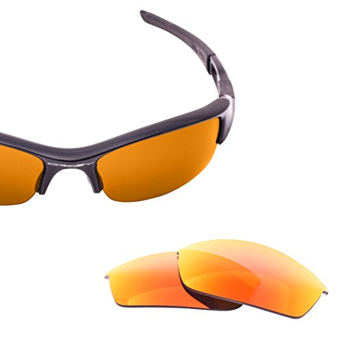 - LenzFlip Replacement Lenses for Oakley Flak Jacket   Gray Polarized with Red Mirror   100% UV Protection