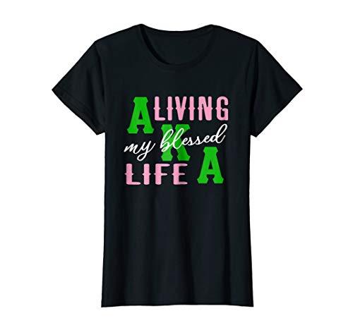 Womens AKA Shirt, Gift for AKA sorority Alpha Kappa, living blessed