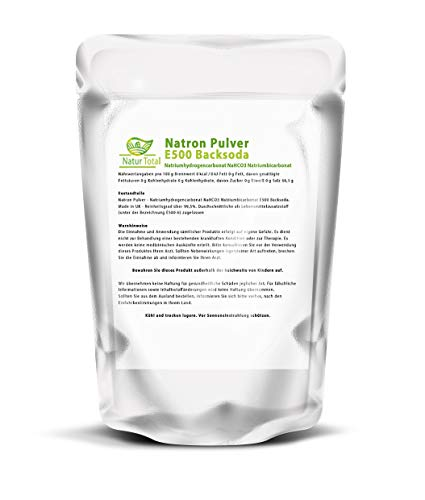 Natron Pulver 1Kg Lebensmittelqualität: Natriumhydrogencarbonat NaHCO3 Natriumbicarbonat E500 Backsoda (1000g) Natrium Fussbad, Basenbad, Kosmetik Waschsoda Backing Soda