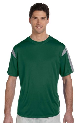 Russell Athletic Short-Sleeve Performance T-Shirt, 2XL, DARK (Oval Green T-shirt)