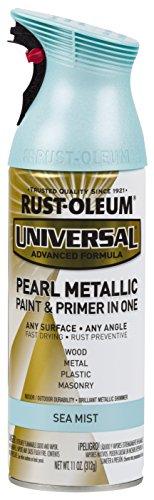 Rust-Oleum 301551 Universal All Surface Spray Paint, 11 oz, Pearl Metallic Sea Mist by Rust-Oleum (Image #1)
