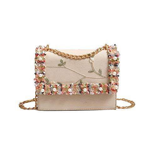 Crossbody Bags for Women,iOPQO Fashion Pearl Lace Tote Handbag Shoulder Bag (Pearl Handbag Guess)