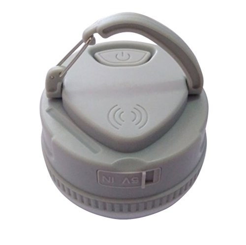 ThreeCat Ultimate Rechargeable LED Lantern and 3000mah USB Power Bank Multifunction Camping Lantern Mini Lamp for Emergency/Hurricanes/Hiking/Outdoor& Indoor Use (Grey) (Luminous Mini Lanterns)