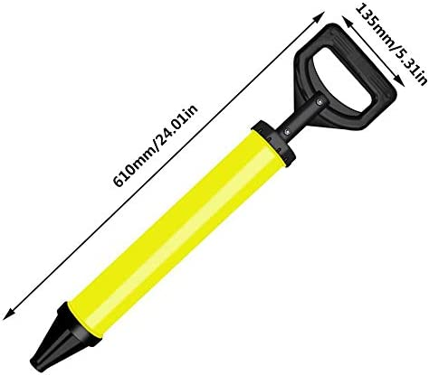 pistolet /à calfeutrer Raccords d/étachables pour ciment Jaune et noir accrochage du mortier de mortier en ciment pour porte de s/écurit/é agent de calfeutrement