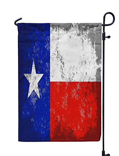 GROOTEY Welcome Outdoor Garden Flag Home Yard Decorative 12X18 Inches Texas Style State Flag Double Sided Seasonal Garden -