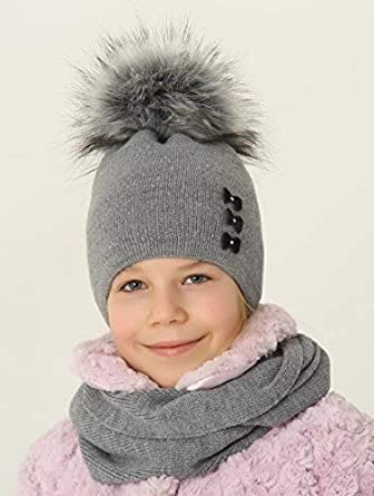 Ande Girls Winter Set hat and Scarf Warm Knitted Set Size 6 7 8 9 10 11 Years Fabulous