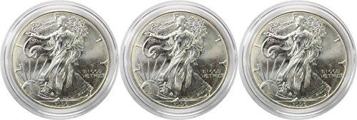 1996 1 Oz. American Silver Eagle 3 Coin Set Brilliant Uncirculated