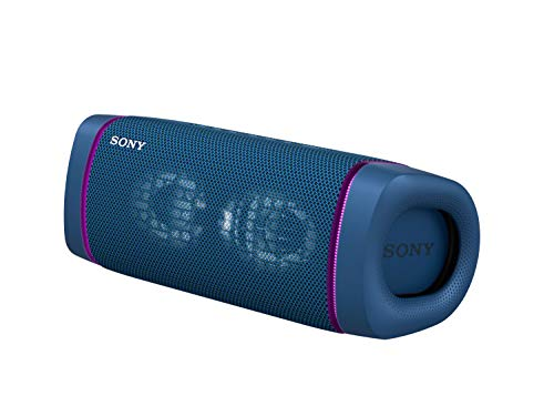 Sony SRS-XB33 EXTRA BASS Wireless Portable Speaker IP67 Waterproof BLUETOOTH and Built In Mic for Phone Calls, Blue