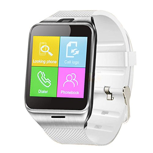 Padgene Bluetooth SmartWatch NFC Phone Watch for Smartphones Android Samsung S3 / S4 / S5 / Note 2 / Note 3 / Note 4, HTC M8 / M9, Sony, White
