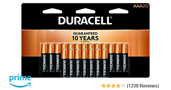 Duracell - CopperTop AAA Alkaline Batteries - long lasting, all-purpose  Triple A battery for household and