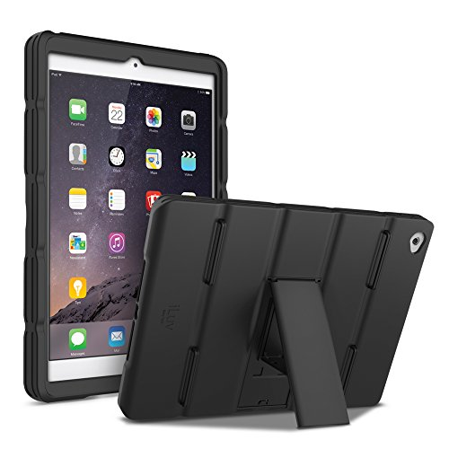 iLuv AP6LAYUBK Cell Phone Case for iPad Air 2 (Retail Packaging), Black