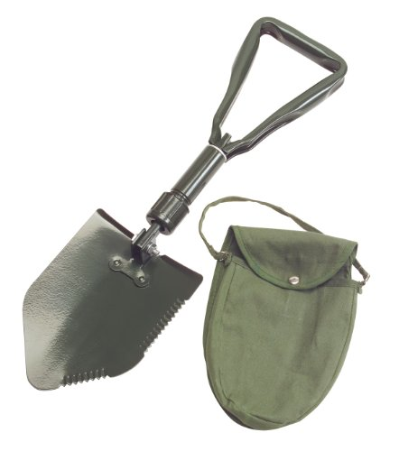 TEKTON 7888 3-Way Folding Survival and Camping Shovel with Storage Pouch by TEKTON