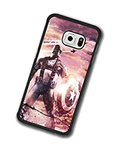 Samsung Galaxy S6 Edge (Not S6) Funda Original Muster Case Captain America Quote resistente anti golpes personalizada Funda For Wemen Rosa