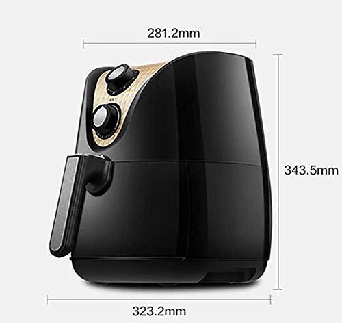 ZZHMW Friteuse 100% sans BPA, Thermostat Réglable Et Indicateurs Lumineux, Bouton De Commande, 1230W, Capacité De 3.5L.