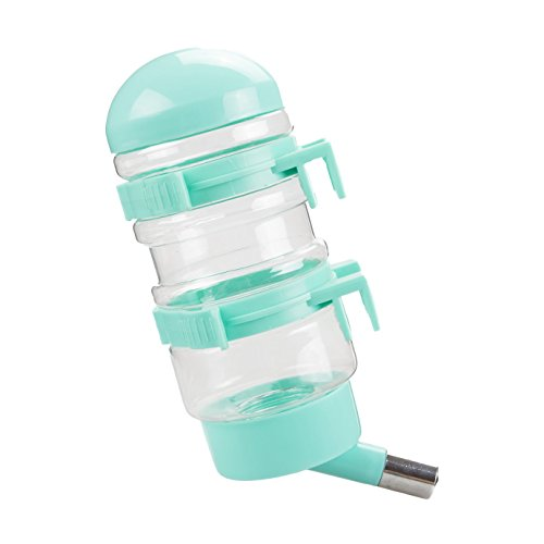 Dog Water Bottle, FATPET 400 ML Pet Dog Water Bottle with Automatically Feeding Water (green) - Water Bottle Dogs