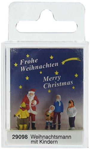 Santa Claus Train - Preiser 29098 Santa Claus w/Children HO Model Figure