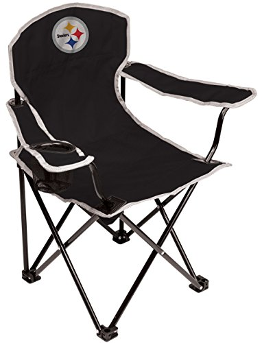 Coleman NFL Pittsburgh Steelers Youth Folding Chair, Black