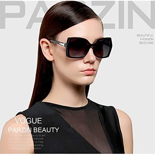1f0bf46ca Amazon.com: Polarized Womens Vintage Sunglasses - PARZIN Rectangular Eyewear  Driving Travel Fashion Style UV400 Anti-glare Lens: Clothing