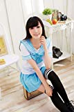 Seven-Color Stretch Four Seasons College Student Uniform Sailor Suit Game Uniform Seduction Role-Play Games Y Blue XL