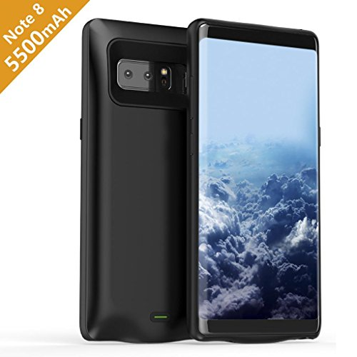 Samsung Galaxy Note 8 Battery Case, Wofalodata 5500mAh Rechargeable Extended Battery Charging Case for Samsung Galaxy Note 8, External Battery Charger Case, Backup Power Bank Case (Black)