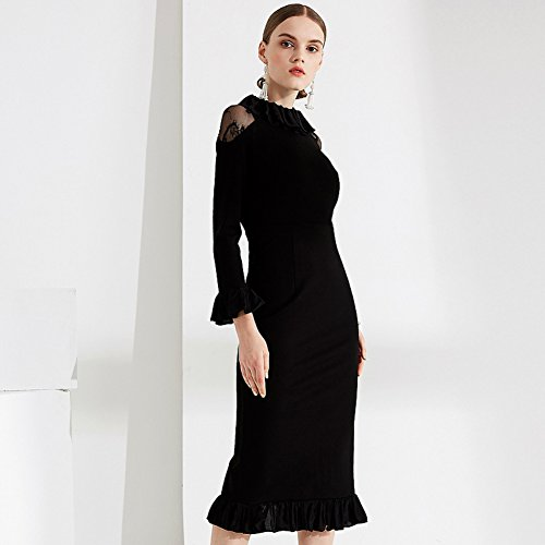 Dresses Patchwork Dress Dinner Womens Sleeve Lace Fit Party For