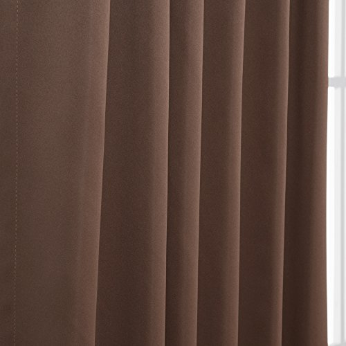 Best Home Fashion Thermal Insulated Blackout Curtains - Back Tab/Rod Pocket - Chocolate - 52