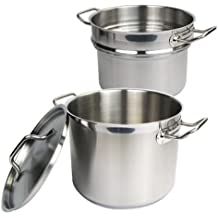 Winware Stainless 8 Quart Double Boiler  with Cover
