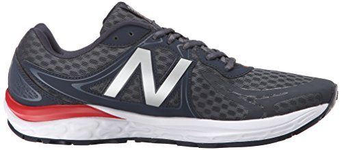 New Balance Hombres M720v3 Running Shoe-m Gris Oscuro / Rojo