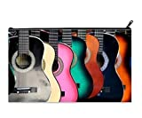 Guitar Music Custom Kids School Pencil Case pencil Bag Zipper Organizer Bag (Twin sides) 9.0''(L) x 5.5''(W)