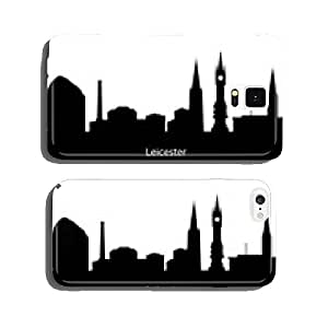 Leicester, England skyline. Detailed silhouette. Vector illustra cell phone cover case iPhone6