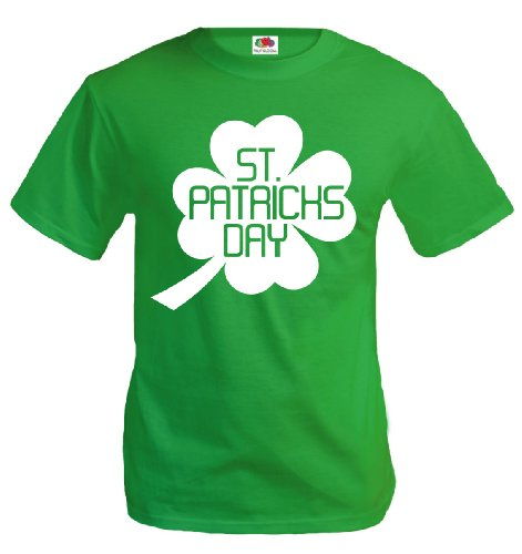 buXsbaum T-Shirt St Patricks Day-S-Kellygreen-White