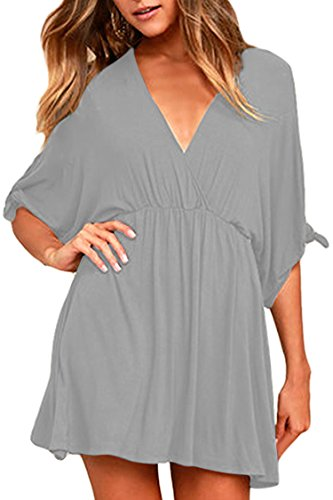casual summer dress with sleeves - 9