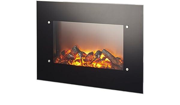 chimenea eléctrica de pared Ruby Fires Varese potencia 0 - 1200 - 1800 W con efecto llama ajustable, incluido: Amazon.es: Hogar