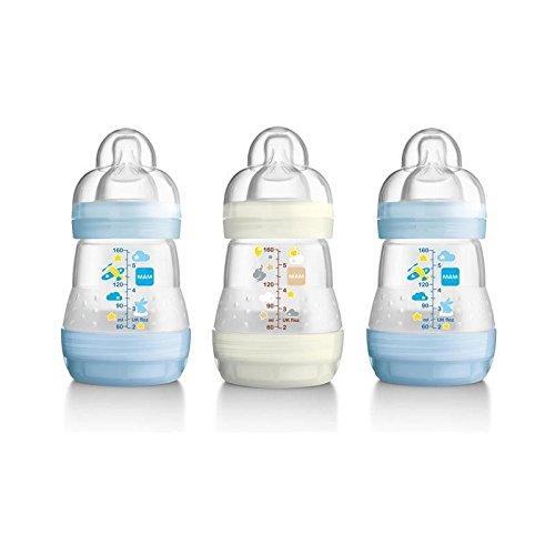 MAM Anti Colic Bottle, Blue 3 per pack - Pack of 4
