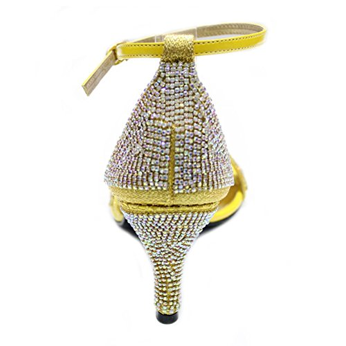 4 Taille Fashion Mesdames Sandales Soirée Diamante W Femmes Mariée amp; W Mariage 8wPxvU