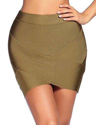 Olive Mini Skirt - 2