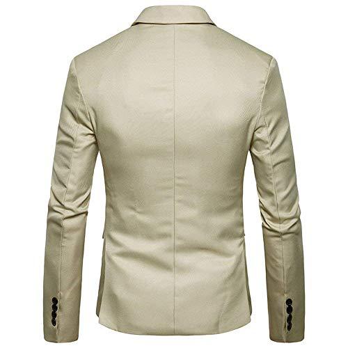 Fit Hommes Veste Bouton Avec Costume Loisirs Blazer Kaki Essentiel Pour Slim Tuxedo De Mariage xff6q1X