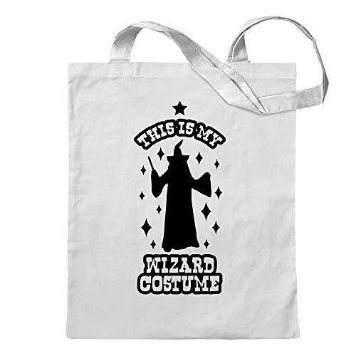 this is my wizard costume jute bag printed Design Print Gift -
