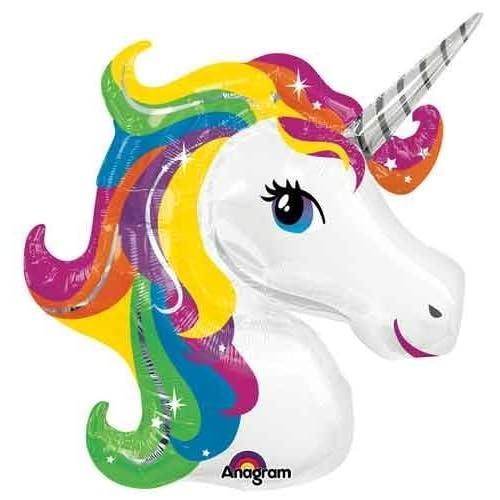 33 Rainbow Unicorn Shape Mylar / Foil Balloon