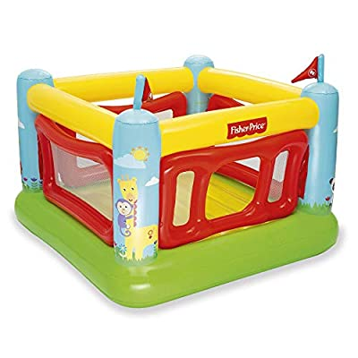 Fisher-Price 69 x 68 x 53 Inch Kids Indoor/Outdoor Bouncetastic Bouncer Inflatable Bounce House Bouncy Castle: Toys & Games